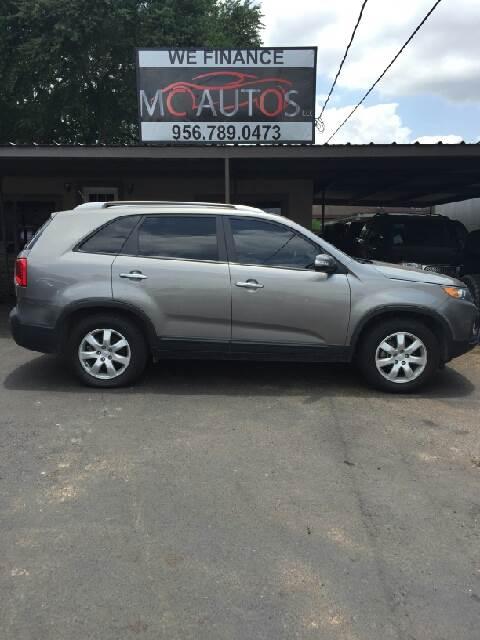 2012 Kia Sorento for sale at MC Autos LLC in Pharr TX