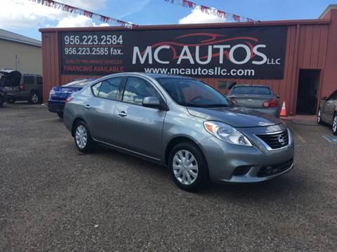 2014 Nissan Versa for sale at MC Autos LLC in Pharr TX