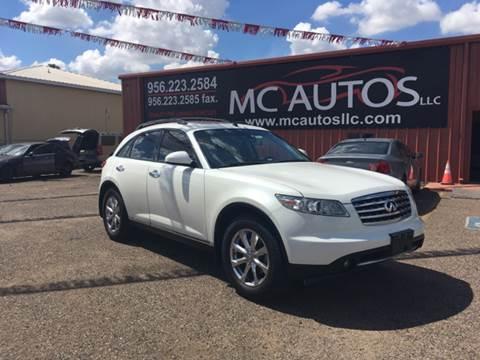 2008 Infiniti FX35 for sale at MC Autos LLC in Pharr TX
