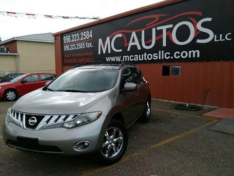 2009 Nissan Murano for sale at MC Autos LLC in Pharr TX