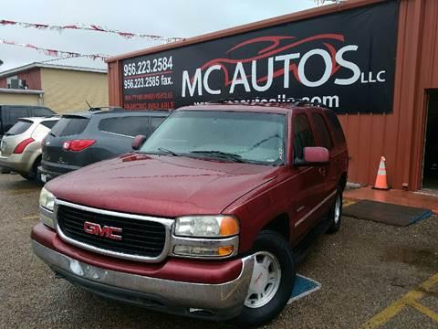2002 GMC Yukon for sale at MC Autos LLC in Pharr TX