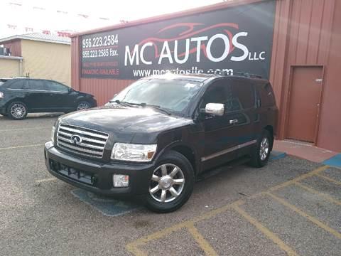 2006 Infiniti QX56 for sale at MC Autos LLC in Pharr TX