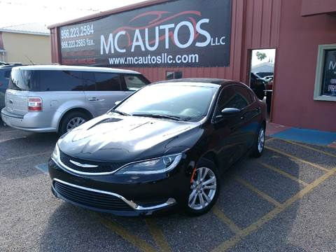 2015 Chrysler 200 for sale at MC Autos LLC in Palmview TX