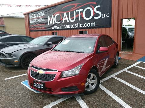 2013 Chevrolet Cruze for sale at MC Autos LLC in Palmview TX