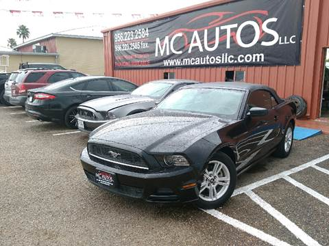 2013 Ford Mustang for sale at MC Autos LLC in Palmview TX
