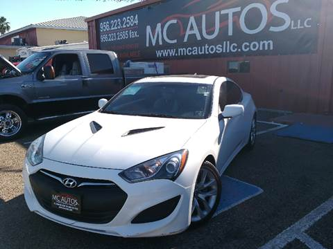 2013 Hyundai Genesis Coupe for sale at MC Autos LLC in Palmview TX