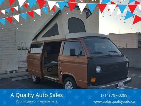 1981 Volkswagen Vanagon for sale in Huntington Beach, CA
