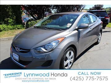 2012 Hyundai Elantra for sale in Edmonds, WA