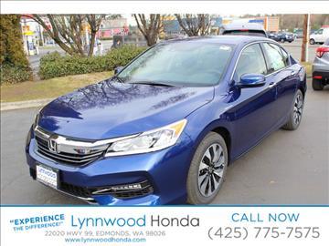 2017 Honda Accord Hybrid for sale in Edmonds, WA