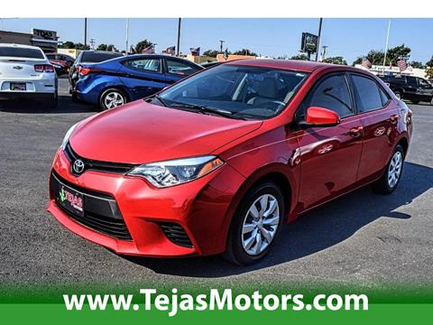 2014 Toyota Corolla for sale in Lubbock TX