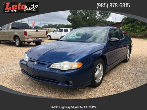 2004 Chevrolet Monte Carlo SS for sale at Leto Auto in Amite LA