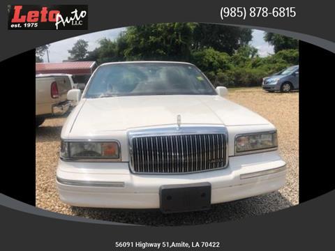 1996 Lincoln Town Car Signature for sale at Leto Auto in Amite LA