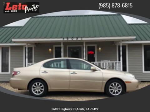 2004 Lexus ES 330 for sale at Leto Auto in Amite LA