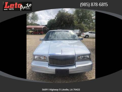 1997 Lincoln Town Car Executive for sale at Leto Auto in Amite LA