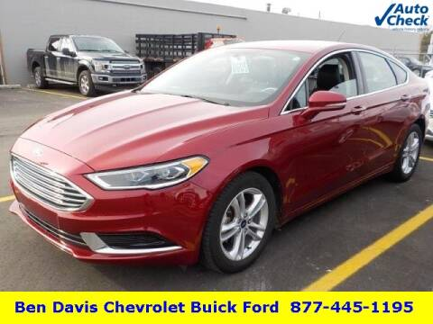 2018 Ford Fusion SE for sale at Ben Davis Ford in Auburn IN