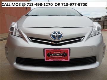 2013 Toyota Prius v for sale in Houston, TX