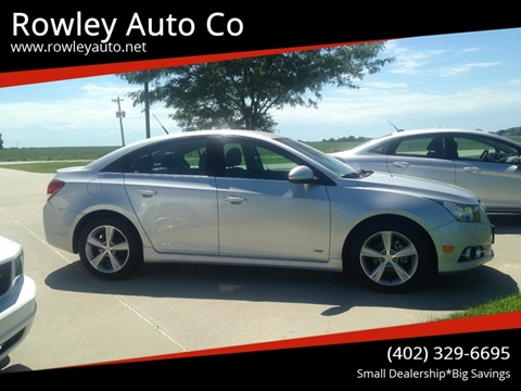 2014 Chevrolet Cruze for sale at Rowley Auto Co in Pierce NE