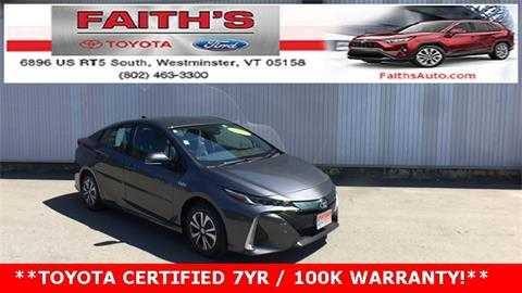 2018 Toyota Prius Prime for sale in Westminster, VT