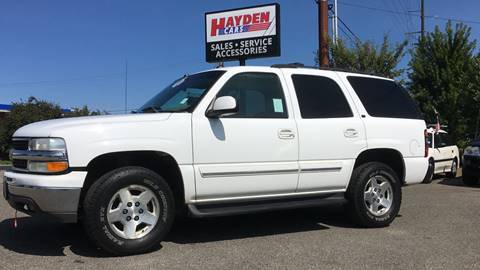 2004 Chevrolet Tahoe for sale at Hayden Cars in Hayden ID