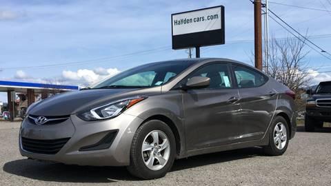 2015 Hyundai Elantra for sale at Hayden Cars in Coeur D'Alene ID