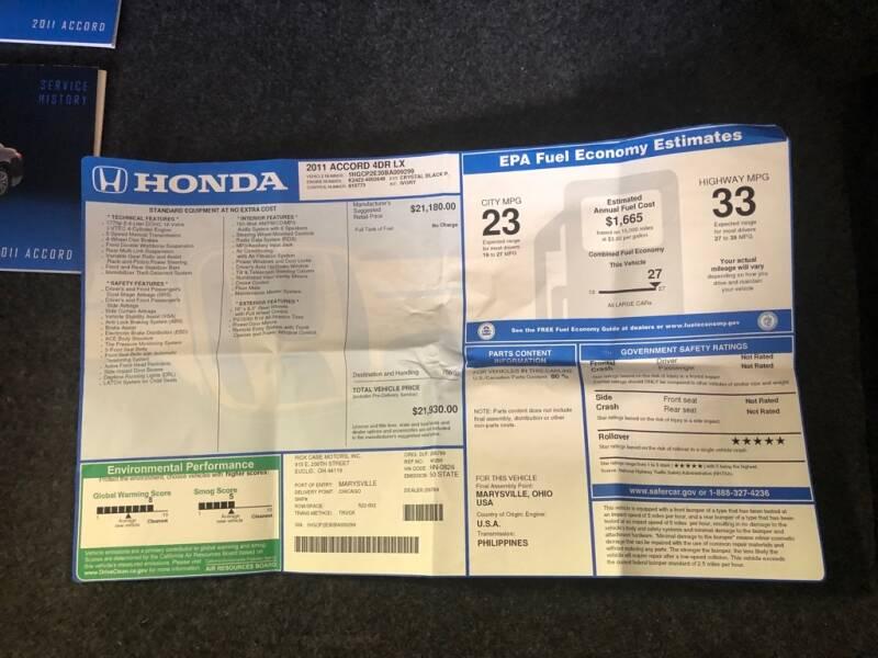 2011 Honda Accord LX 4dr Sedan 5M - Eastlake OH