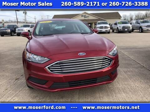 2017 Ford Fusion for sale at Moser Motors Of Portland in Portland IN