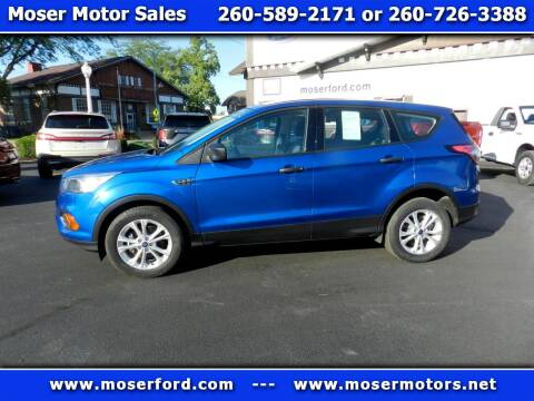 2017 Ford Escape for sale at Moser Motors Of Portland in Portland IN