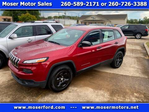 2014 Jeep Cherokee for sale at Moser Motors Of Portland in Portland IN