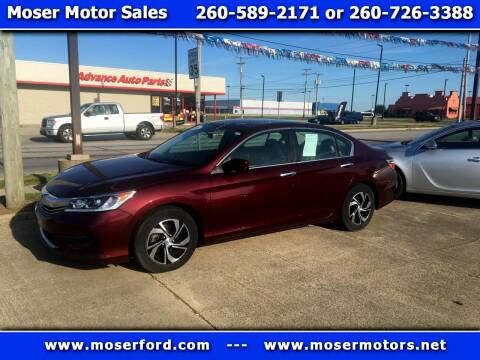 2016 Honda Accord for sale at Moser Motors Of Portland in Portland IN