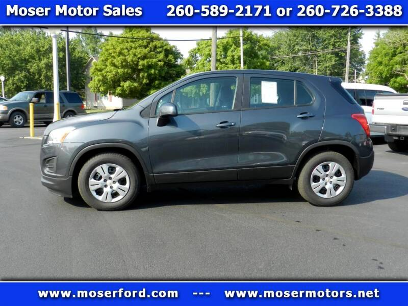 2016 Chevrolet Trax for sale at Moser Motors Of Portland in Portland IN
