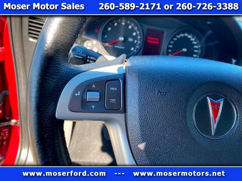 2009 Pontiac G8 for sale at Moser Motors Of Portland in Portland IN