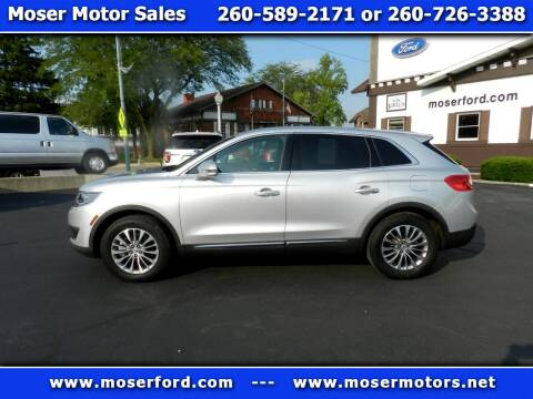 2017 Lincoln MKX for sale at Moser Motors Of Portland in Portland IN