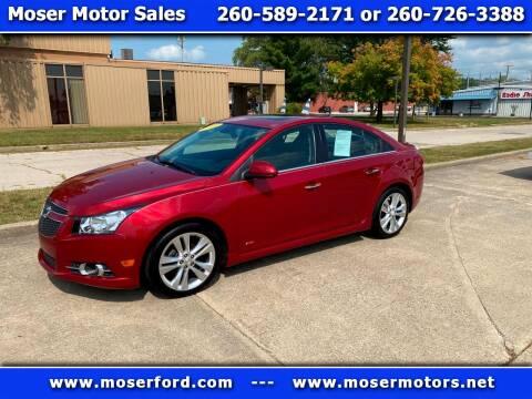 2014 Chevrolet Cruze for sale at Moser Motors Of Portland in Portland IN