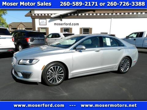 2018 Lincoln MKZ for sale at Moser Motors Of Portland in Portland IN