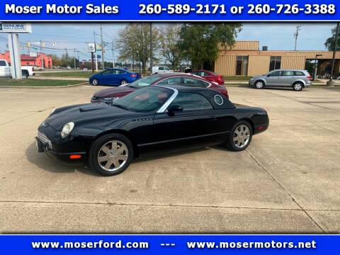 2002 Ford Thunderbird for sale at Moser Motors Of Portland in Portland IN