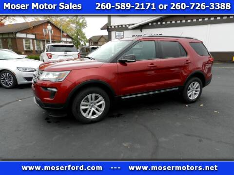 2018 Ford Explorer for sale at Moser Motors Of Portland in Portland IN