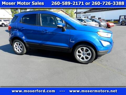 2018 Ford EcoSport for sale at Moser Motors Of Portland in Portland IN