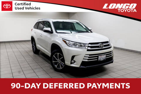 2017 Toyota Highlander for sale at Longo Toyota Scion in El Monte CA