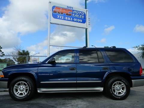 2001 Dodge Durango for sale in Fort Pierce, FL