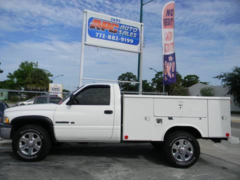 2001 Dodge Ram Pickup 2500 for sale at APC Auto Sales in Fort Pierce FL
