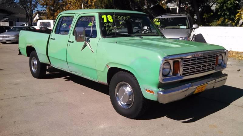 1978 Dodge D200 Pickup Crew Cab W Sweptline Box In Loveland Co