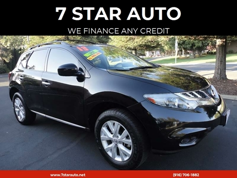 2013 Nissan Murano for sale at 7 STAR AUTO in Sacramento CA