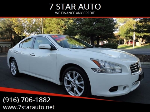 2013 Nissan Maxima for sale at 7 STAR AUTO in Sacramento CA