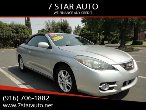 2007 Toyota Camry Solara for sale at 7 STAR AUTO in Sacramento CA