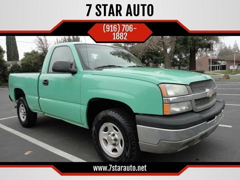 2003 Chevrolet Silverado 1500 for sale at 7 STAR AUTO in Sacramento CA