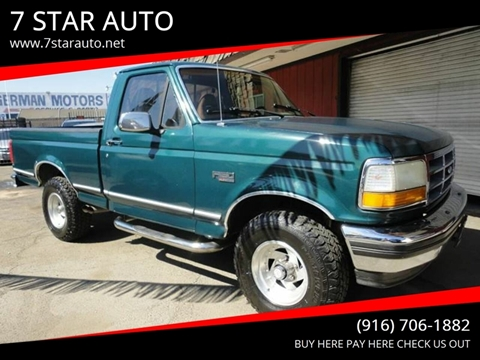1993 Ford F-150 for sale at 7 STAR AUTO in Sacramento CA