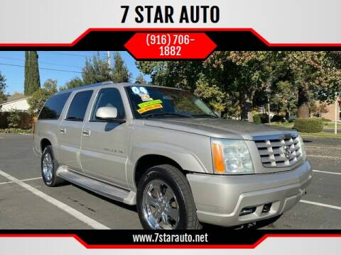 2004 Cadillac Escalade ESV for sale at 7 STAR AUTO in Sacramento CA
