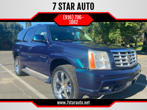 2005 Cadillac Escalade for sale at 7 STAR AUTO in Sacramento CA