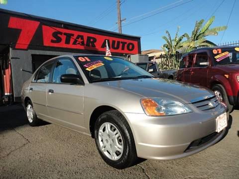 2001 Honda Civic for sale at 7 STAR AUTO in Sacramento CA