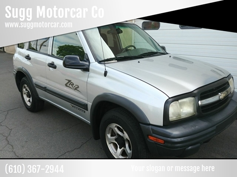 2003 Chevrolet Tracker for sale at Sugg Motorcar Co in Boyertown PA